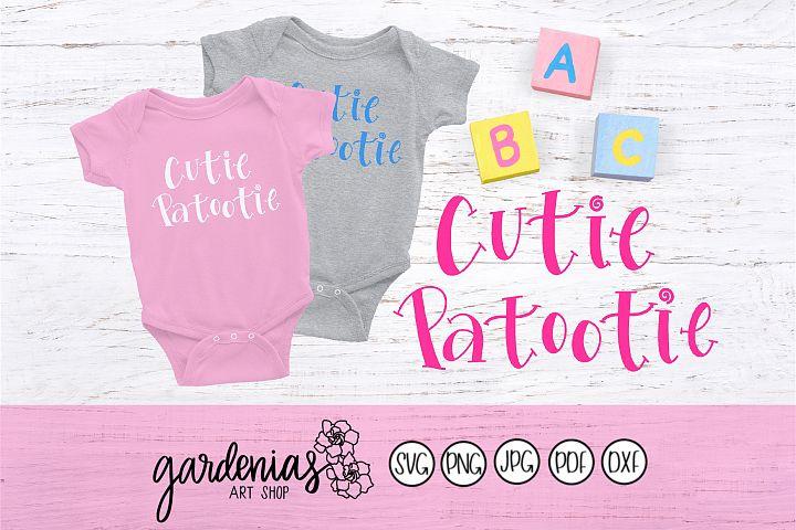Cutie Patootie SVG | Cute Baby Cut File | Cutie Design
