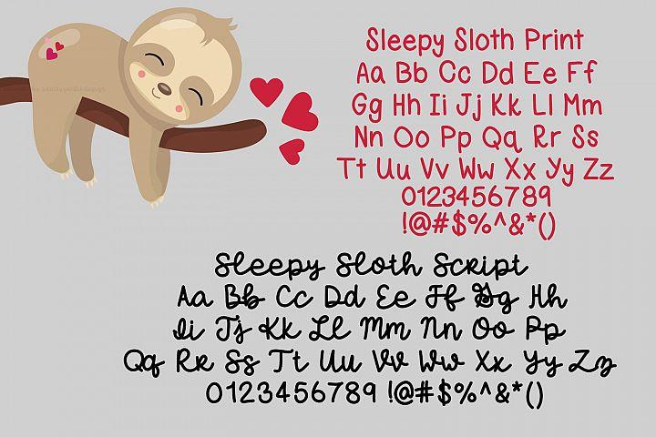 Sleepy Sloth, Handwritten Font Duo - Free Font of The Week Design1