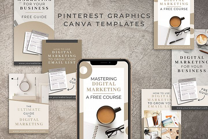 Pinterest Graphics Canva Templates | Mink