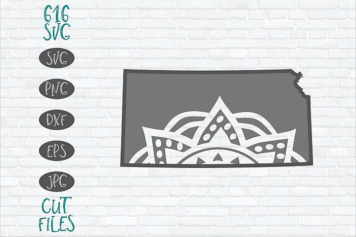 Kansas Mandala SVG