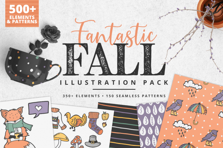 Fantastic Fall Illustration Pack | 500 Elements!