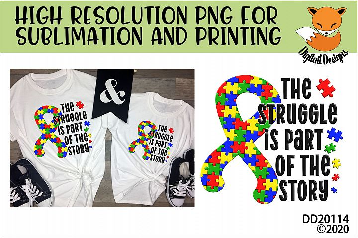 Autism Awareness PNG for Sublimation