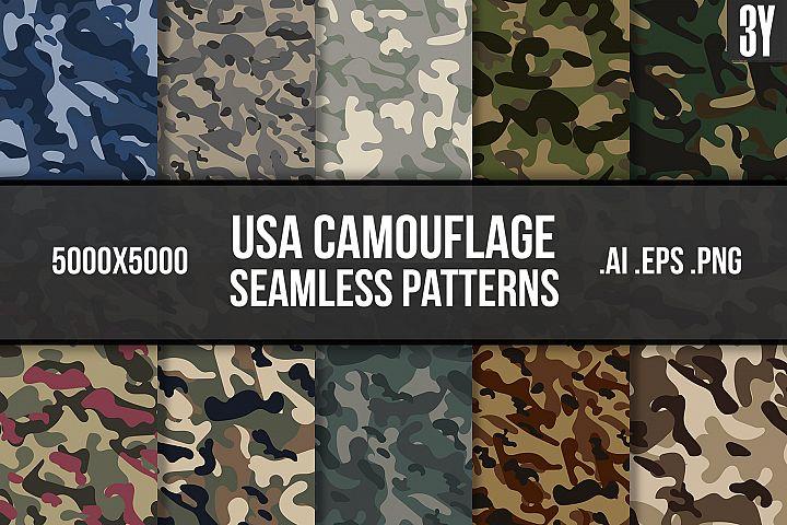 USA Camouflage Seamless Patterns