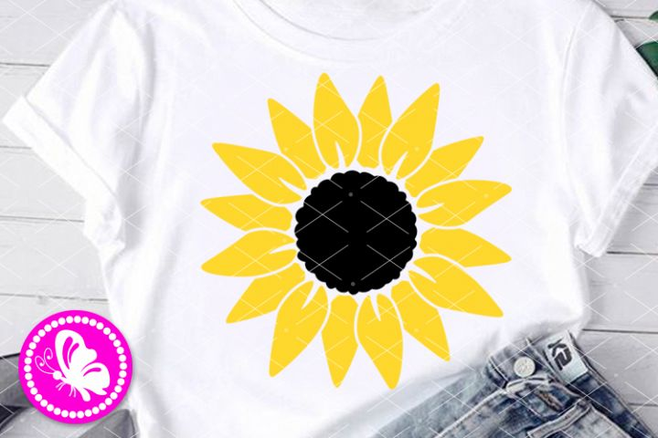 Sunflower svg Home decor Yellow flower clip art print Floral