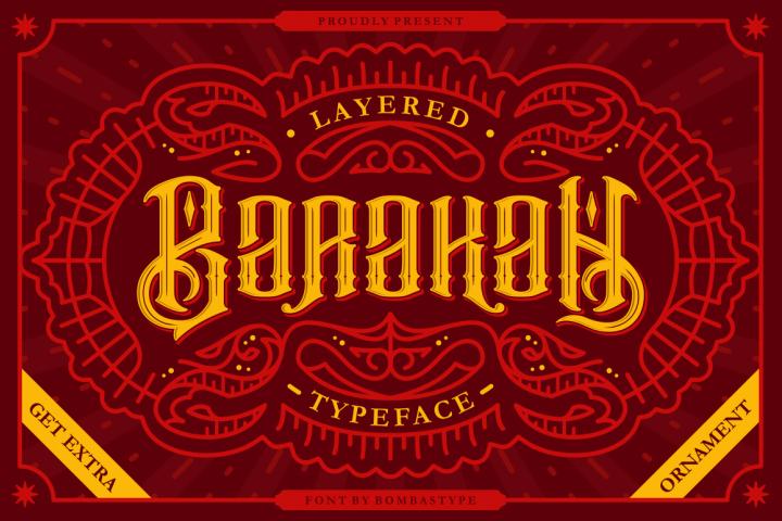 Barakah Typeface + Extras