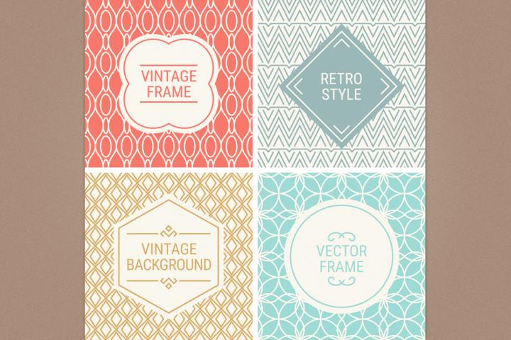 Mono Line Frames and Patterns - Set 20