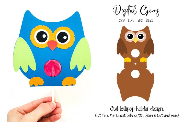 Owl lollipop holder design SVG / DXF / EPS files
