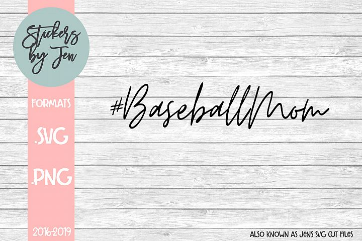 #Baseball Mom SVG Cut File