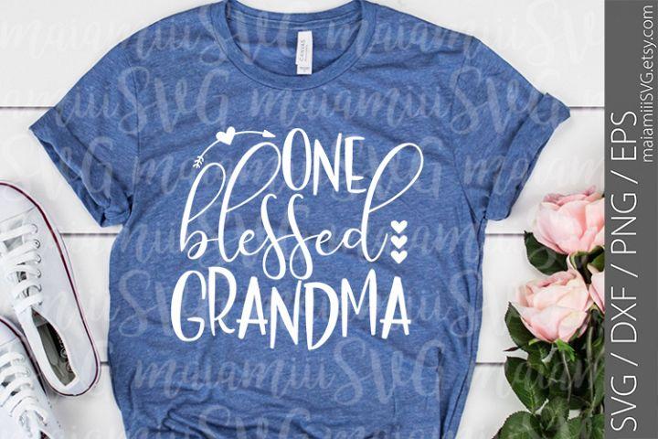 One Blessed Grandma svg, Blessed Grandma svg, Grandma svg