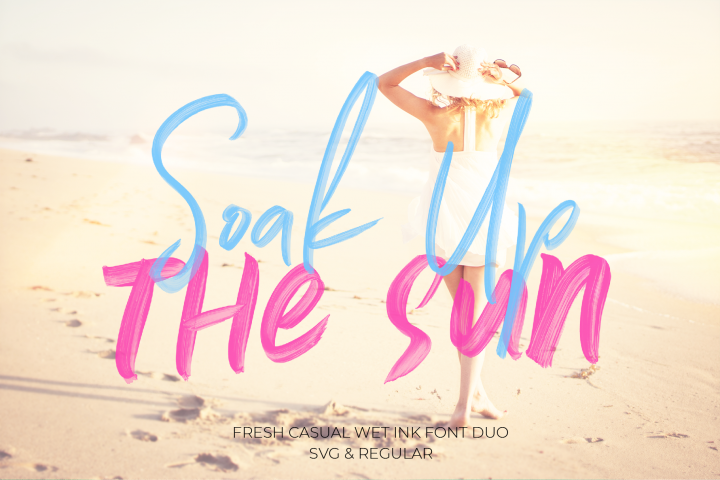 Soak Up The Sun Font Duo & SVG