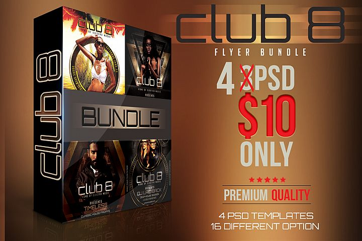 Club 8 Flyer Bundle