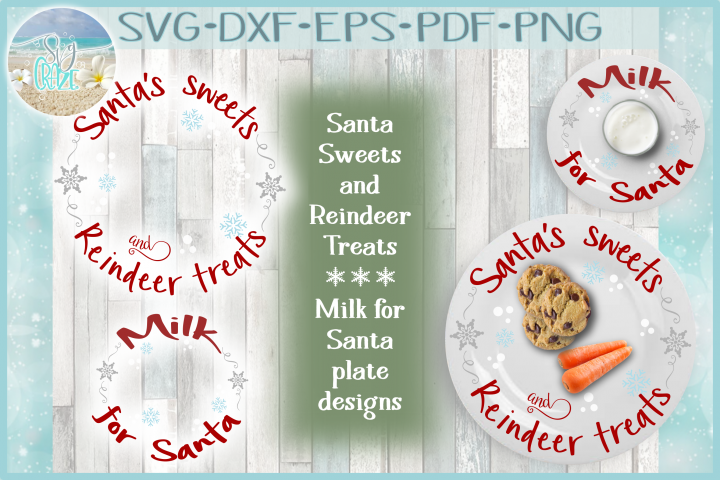 Santa Sweets Reindeer Treats Milk For Santa SVG