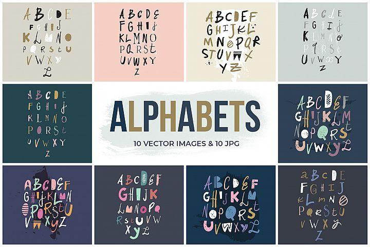 Vector clip art nursery alphabets