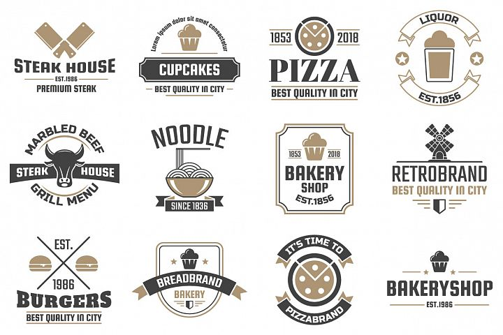 60 Vintage Logo Set example 10