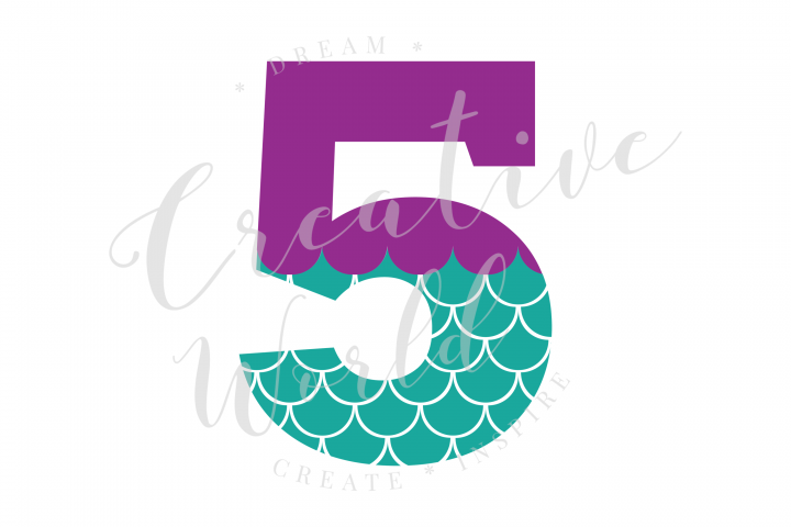 My 5th Birthday Mermaid SVG | Mermaid Birthday Girl svg