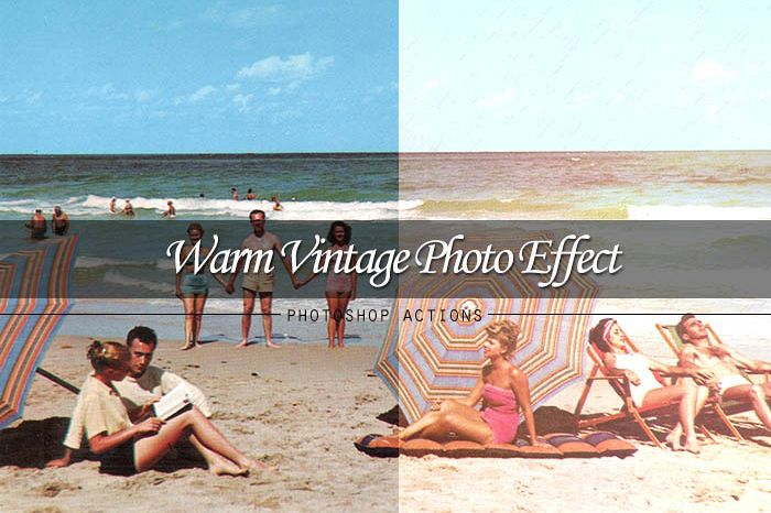 Warm Vintage Photoshop Action