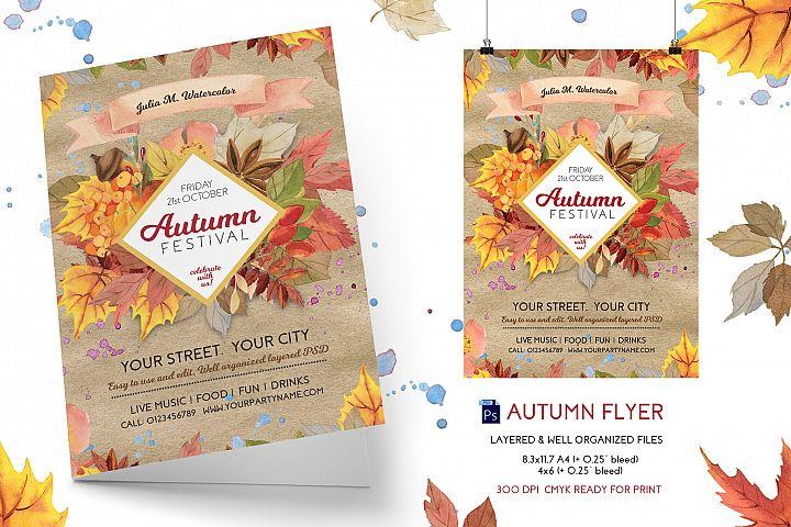 Autumn/Fall Festival Flyer Template