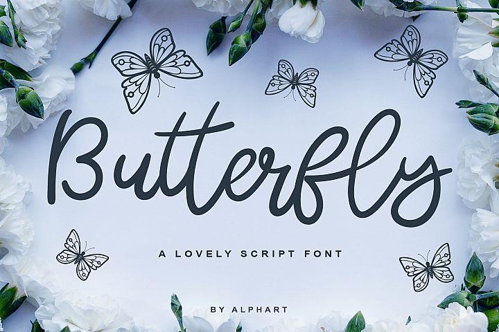 Butterfly - a lovely script font