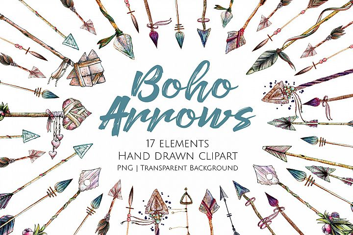 Boho Arrows Graphics and Clipart
