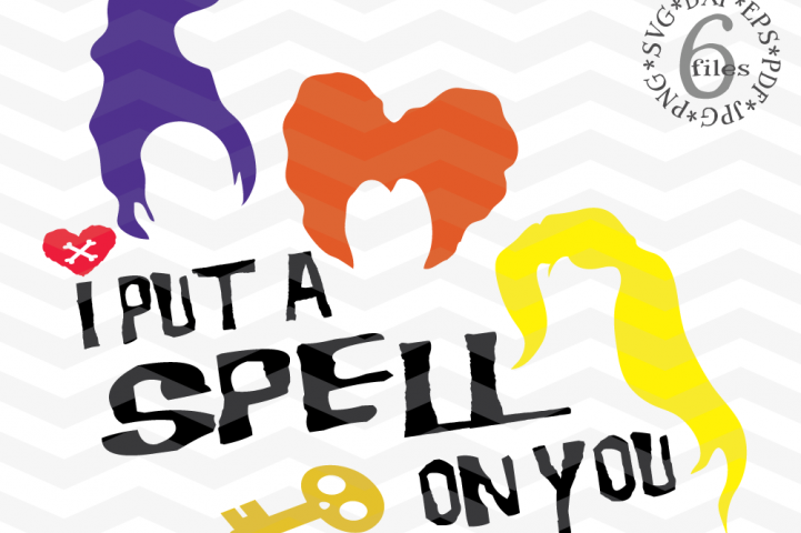 I put a spell on you - Witch Sisters svg -Witch svg - Witch