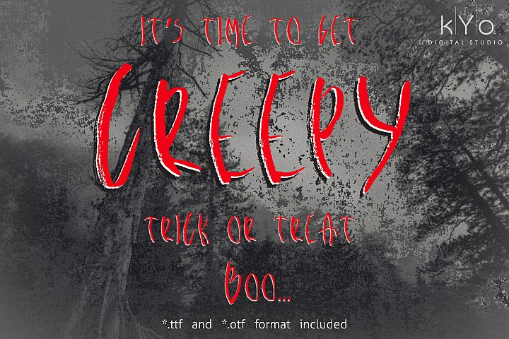 Creepy Brush Halloween font