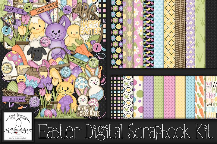 Easter Digital Scrapbook Kit