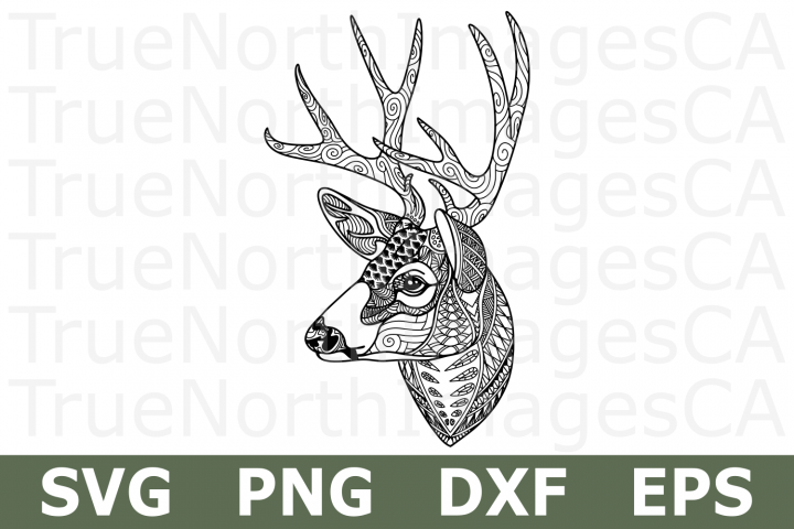 Zentangle Deer - An Animal SVG Cut File