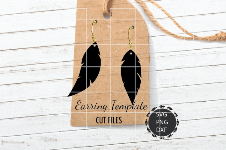 Feather Earrings Svg, Earrings Svg