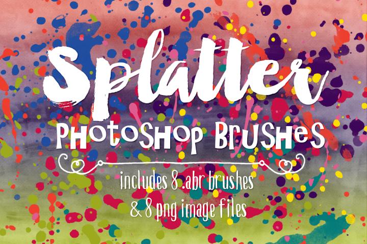 Photoshop Brushes - Grunge Watercolor Paint Splatter Brushes