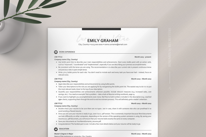 Modern and Stylish ATS-friendly Resume, Student CV Design