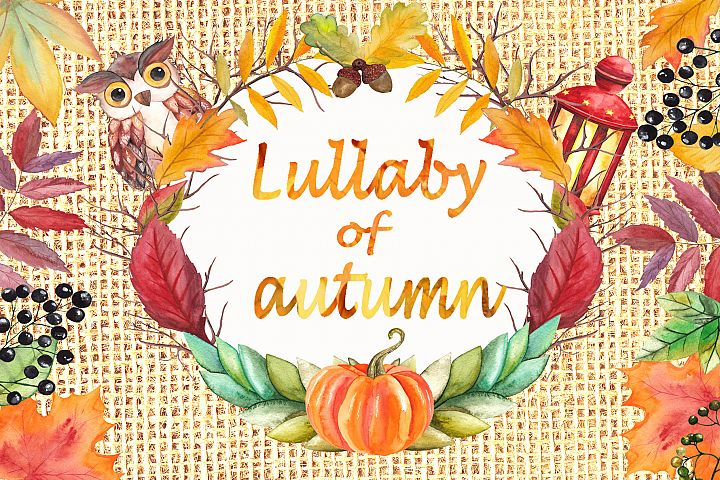 Lullaby of Autumn. Watercolor collection