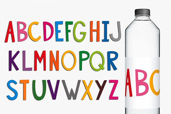 Colorful Alphabet Letters Clip Art Illustrations