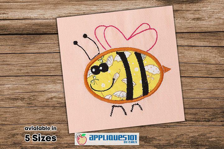Honey Bee Machine Embroidery Applique Design - Bees