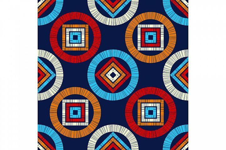 Polka dots ornament. Set of 10 seamless patterns.