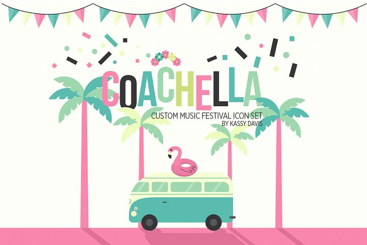 Coachella Music Festival Vector Icons