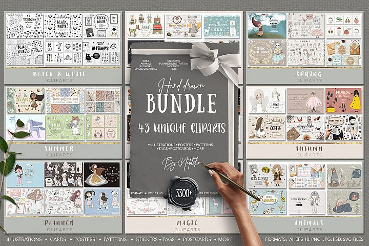 Hand drawn bundle by Natdzho