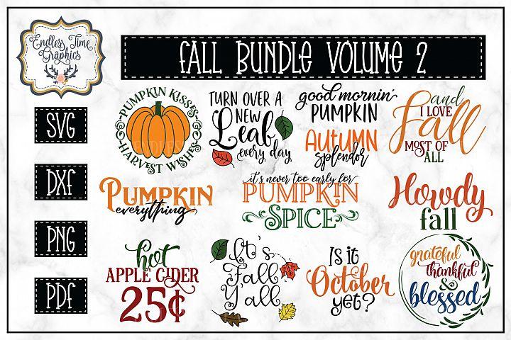 Fall SVG Bundle Volume 2 -- UPDATE 3 New Designs Added