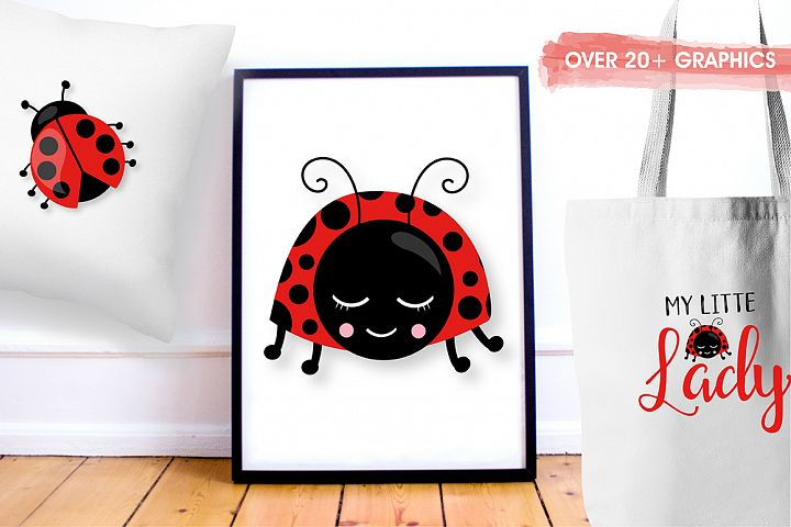 Little ladybug graphics and illustrations - Free Design of The Week Design3