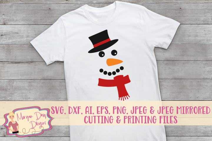 Snowman Face SVG, DXF, AI, EPS, PNG, JPEG