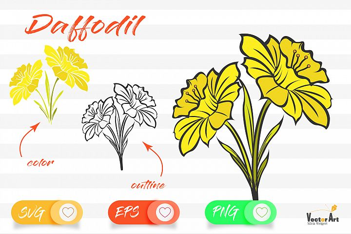 Daffodils - Cut File with 2 Layers