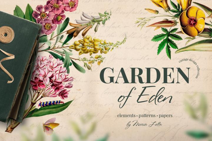 Garden of Eden vintage design set