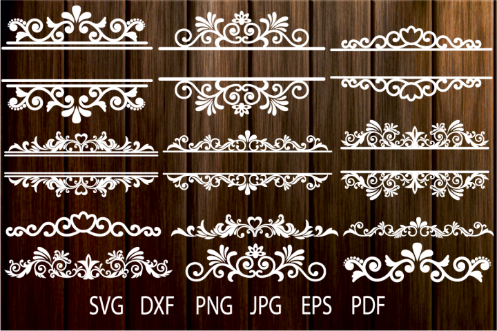 Floral Vintage Frames, Ornamental Split Frame SVG, Flourish - Free Design of The Week