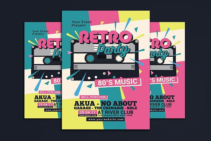 80s Retro Music Party Cassette