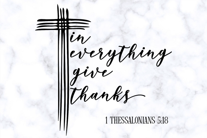 Bible Verse SVG | Christian SVG | In Everything Give Thanks