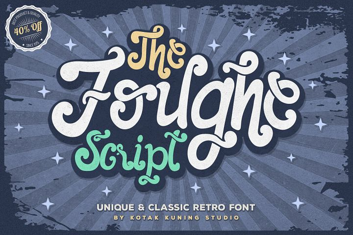 The Foughe Script - Unique Retro Font