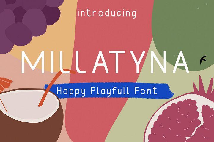 MILLATYNA || Happy Playfull Font