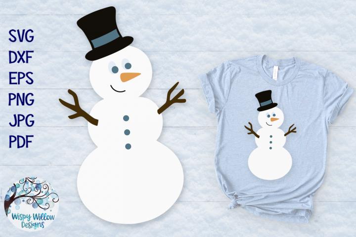 Snowman SVG | Winter Snowman SVG Cut File