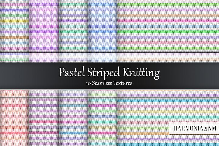Pastel Striped Knitting Seamless Textures