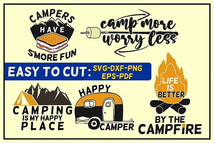 camping bundle svg