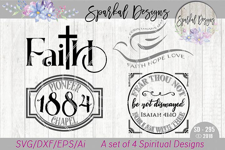 Spiritual Bundle of Four Faith Based Designs